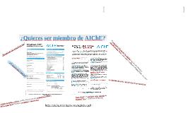 Membresía AIChE
