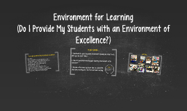 Environment for Learning