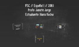 IFSC // Español 1 // 2018.1