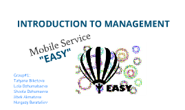 "Mobile Service ""Easy"""