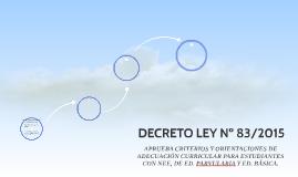 DECRETO LEY Nº 83/2015