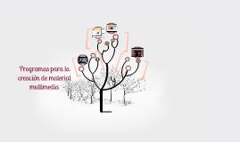 Programas para la creación de material multimedia