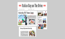 Italian Day on The Drive