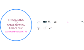 Introduction to Communication -- cultural concepts