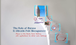 The Role of Nurses in Pain Management