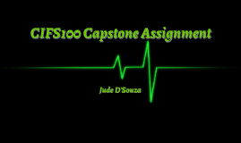 CIFS100 Capstone Assignment