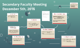 Secondary Faculty Meeting