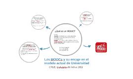 Los MOOCs y su encaje en el modelo actual de Universidad
