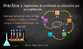 Precipitación de proteínas Mei