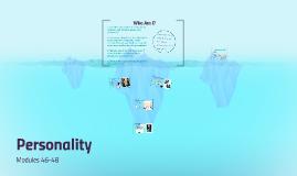 Modules 46-48: Personality