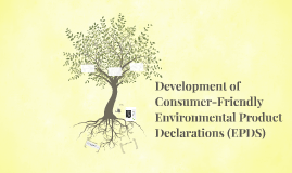 Developing Consumer-Friendly Environmental Product Declarati