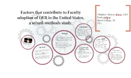 OER17: Factors that contribute to Faculty adoption of OER in the Un