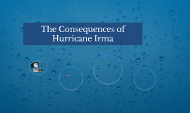 The Consequences of Hurricane Irma