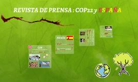 REVISTA DE PRENSA : COP22 y ESPAÑA