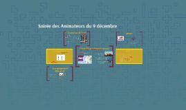 Soirée des Animateurs du 9 décembre