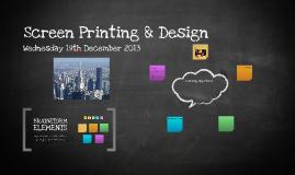 Screen Printing & Design