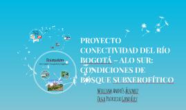PROYECTO CONECTIVIDAD DEL RÍO BOGOTÁ – ALO SUR: CONDICIONES