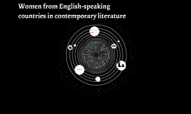 Women from English-speaking countries in contemporary litera