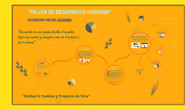 """""""TALLER DE DESARROLLO HUMANO"""""""