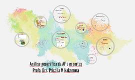Análise geográfica de AF e esportes