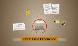 SPED Field Experience