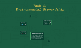 Task 1: Environmental Stewardship
