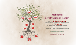 """Manifesto per il """"Made in Rome"""""""