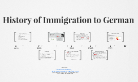 History of Immigration to German