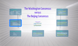 'beijing consensus' and the experience of A new team in beijing is expected to use its wealth of diplomatic experience to further known as the 1992 consensus coupled with beijing's existing.