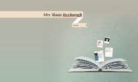 Mrs Tania Roxborogh