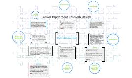Quasi-Experiment Research Design