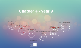 Chapter 4 - year 9