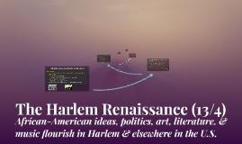 13 - 4: The Harlem Renaissance