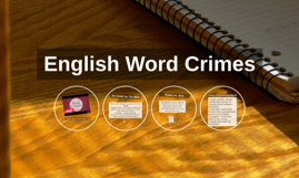 English Word Crimes