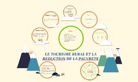 LE TOURISME RURAL ET LA REDUCTION DE LA PAUVRETE