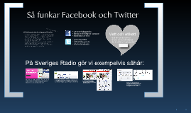 SR - Så funkar Facebook och Twitter