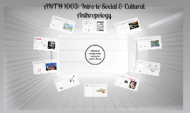 ANTH 1003: Introduction to Social and Cultural Anthropology (Fall 2015)