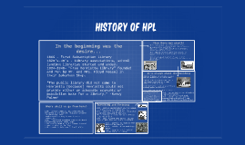 History of HPL