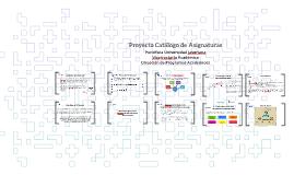 Proyecto Catálogo de Asignaturas