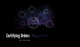Certifying Orders