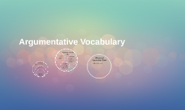 Argumentative Vocabulary