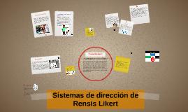 Sistemas de dirección de Rensis Likert