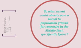 To what extent could obesity pose a threat to population gro