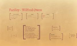 Futility - Wilfred Owen