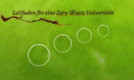 Leitfaden für eine Zero-Waste Universität