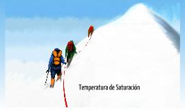 Temperatura de saturación