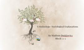 Criminology- Sociological Explanations