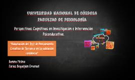 perspectivas cognitivas en investigación e intervención psic