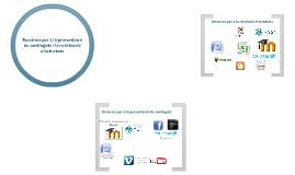 Recursos per a la plataforma virtual d'aprenentatge.