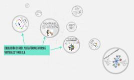 Copy of EDUCACION EN RED, PLATAFORMAS CURSOS VIRTUALES Y WEB 3,0.